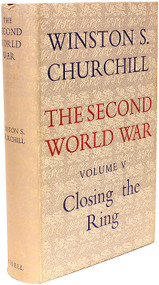 CHURCHILL, Winston. The Second World War - Volume 5 - Closing The Ring. (1952 - FIRST EDITION)
