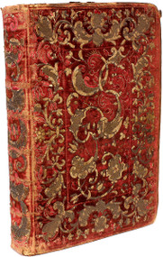 Missale Romanum. (1702 - IN A CONTEMPORARY RED VELVET EMBROIDERED BINDING)