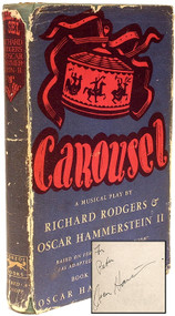 HAMMERSTEIN II, Oscar & Richard Rodgers. Carousel A Musical Play. (FIRST EDITION INSCRIBED BY OSCAR HAMMERSTEIN - 1946)
