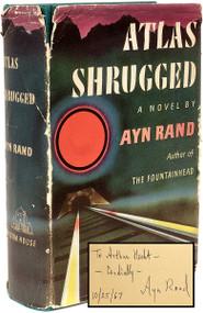 RAND, Ayn. Atlas Shrugged.  (FIRST EDITION NINTH PRINTING PRESENTATION COPY - 1957)