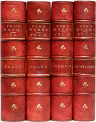 POE, Edgar Allan (John H. Ingram - editor). The Works of Edgar Allan Poe. (4 VOLUMES - 1874)