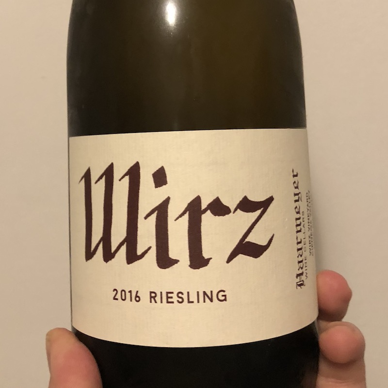 Haarmeyer Wine Cellars, St. Rey Riesling - Wirz (2016)