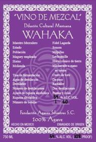 Wahaka Mezcal, Vino de Mezcal Sonora Lechuguilla