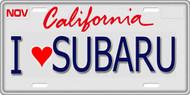 1/10 SCALE LICENSE PLATE FOR RC CAR * I LOVE SUBARU *