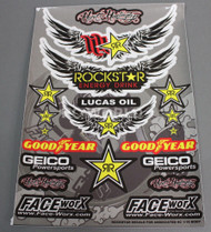 RC Car Truck Short Course RACING Drift DECALS ROCK STAR Energy Logos Sponsors
