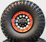 Axial SCX10 Jeep Honcho Scorpion Rockcrawler CNC BEADLOCK Metal WHEELS Swampers