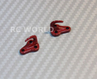 RC 1/10 Scale Truck Accessories METAL ANCHOR HOOKS + Hardware RED