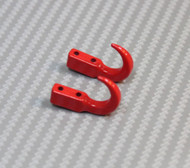 New RC 1/10 Scale Truck Accessories METAL ANCHOR HOOKS + Hardware RED
