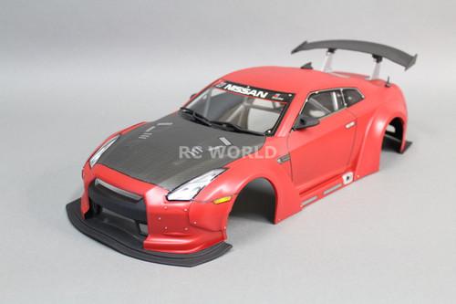 1 10 Rc Car Drift Body Shell Nissan Gt R Nismo W Wide Body Kit