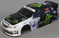 1/10 RC Car BODY Shell SUBARU IMPREZA STI MONSTER 190mm Body w/ L.E.D + Wheels