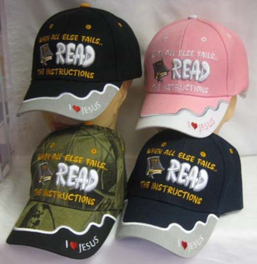 christian baseball caps wholesale cheap read instructions hat cap gods word timothy themed