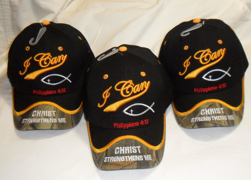 christian baseball caps embroidered mens pack black can do all things hat cap cheap