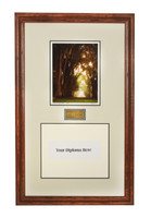 The Penn State Elms Collection Diploma Frame with Seasonal Elms Photo