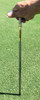 "Turf-Tec Tall Pocket Tubular Soil Sampler - 1/2"" Diameter Stainless Steel - In use"