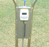 Turf-Tec Infiltrometer - Showing inch / mm scale, float rod and count down timer