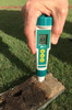 Direct Soil pH Pen - Direct reading of pH from the soil at any level in the soil.  Unit being used in a Mascaro Soil Profile Sampler (After the soil has been removed from the ground)