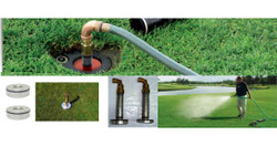 """Aqua-Quick can turn any RainBird or Toro valve-in-head sprinkler into a 3/4"""" or 1"""" water source"""