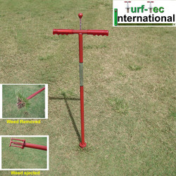 "WEED1-M - Turf-Tec WeedAway Weed Removal Tool - Unit comes with 1 set 3"" & 1 set 4"" Inch deep spikes"