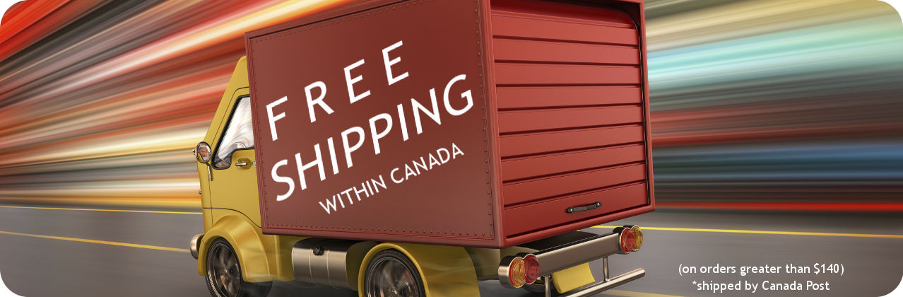 Free shipping on orders over $140 - shipping by Canada Post.