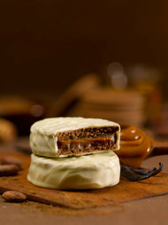 •	Most classic alfajor in Argentina, Uruguay •	Box of 6 units •	Imported from Argentina •	12.6 oz  360 g in a gift box