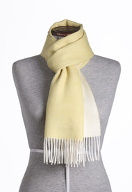 Baby Alpaca Scarf, Double-sided mustard/white