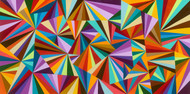 "kaleidoscope eyes canvas giclee Giclee print Acrylic 24"" x 48"" Main colors: Multi-colors vibrant pallete 10-14 days delivery Stretched canvas ready to hang"