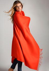 100% Baby Alpaca orange blanket