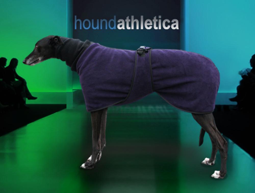 greyhound fleece coat