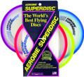 Aerobie 25R12 Superdisc Flying Disc - Asst Colors-Red/Yllw/Blue/Purple - 25R12