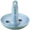 Attwood 9943-1 Mushroom Anchor 15Lb - Sil Ptd - 9943-1