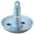 Attwood 9941-1 Mushroom Anchor 8Lb - Sil Ptd - 9941-1
