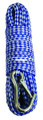 "Attwood 11722-2 Anchor Line - 1/4""x100' Poly Blue/White w/Hook - 11722-2"
