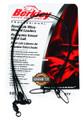 """Berkley 3W1845BL Wire Wound Steelon - Leader 3Pack 18"""" 45# Black - 3W1845BL"""