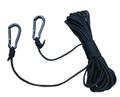 Big Game LA050 Lift Cord, 30' Nylon - Rope with 2 HD Carabiner Clips - LA050