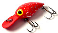 "Brad's BW-09 Wiggler Crankbait, 3"" - 3/8 oz, Fluorescent Red with Silver - BW-09"