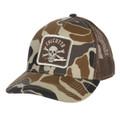 Calcutta BR204690 Old School Brown - Camo Cap with patch front and mesh - BR204690