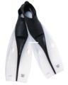 Calcutta BR57642 Slip On Swim Fins - Sz 11-12 Clear/Black - BR57642