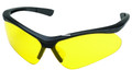 Champion 40604 Shooting Glasses - Open Frame Black/Yellow Ballistic - 40604