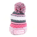 Clam 10600 Pink Knit Pom Stocking - Hat - 10600