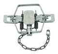 "Duke 0502 Coil Spring Trap, Square - Jaw, #4 CS 4X, 6.5"" Jaw Spread - 502"