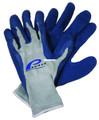 Promar GL-200-L Rubber Glove Lg - Blue Latex - GL-200-L