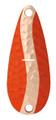 Worth 38774 Chippewa Spoon, 1/2 oz - Fluorescent Orange/Hammered Copper - 38774