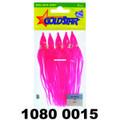 "Yamashita 1080-0015 Squid Hoochy, 4 - 1/2"", Pink, 5/Pack - 1080-0015"