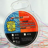 PREMIUM MULTI-COLORED 30# TEST BRAIDED lINE - NEW COLOR EVERY 10 FEET - 50 YDS/SPOOL