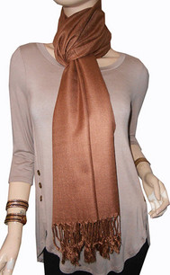 Copper Brown Pashmina Scarf