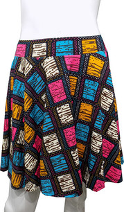 Multi Color Square Printed Skirt