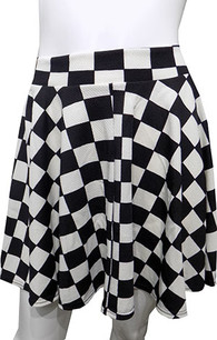 Black/White Checkered Skirt
