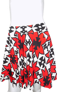 Red/White Patterned Skirt