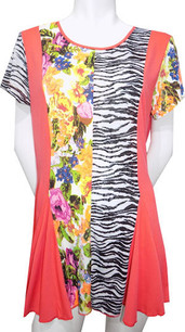 65009 Orange Floral Top