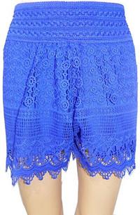 SH01 Blue Crochet Shorts